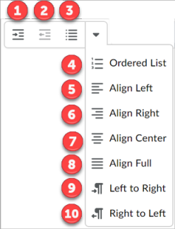 Align Text Options